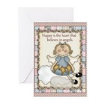 Happy Heart Angels Greeting Cards (Pk of 10)
