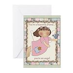 Heavenly Friend Angel Greeting Cards (Pk of 10)