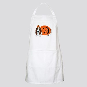 Basset Hound In Pumpkin Suit Apron