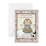 Little Girls Angel Greeting Cards (Pk of 20)