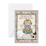 Little Girls Angel Greeting Card