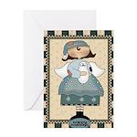 Happy Holidays Angel Greeting Card