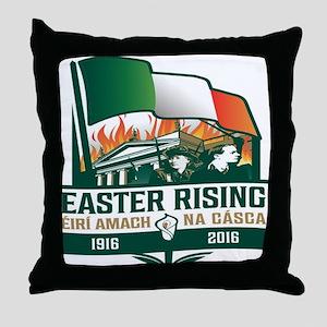 Easter Rising (Gaelic) Throw Pillow