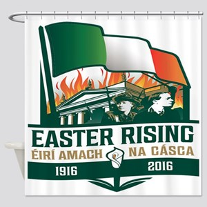 Easter Rising (Gaelic) Shower Curtain
