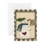 Happy Snowman Greeting Cards (Pk of 10)