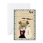 Snowman Meadow Greeting Card
