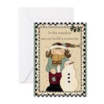 Snowman Meadow Greeting Cards (Pk of 20)