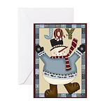 Joy Snowman Greeting Card