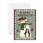 Happy Holidays Snowman Greeting Cards (Pk of 10)