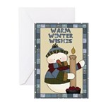 Warm Winter Snowman Greeting Cards (Pk of 20)