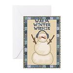 Winter Snowman Greeting Card