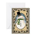 Flakey Snowman Greeting Card
