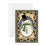 Flakey Snowman Greeting Cards (Pk of 10)