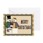 Snow Family Card Greeting Cards
