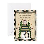 Chubby Snowman Greeting Card