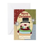 Twinkling Snowman Greeting Cards (Pk of 10)