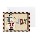 Snowman Joy Greeting Cards (pk Of 20)