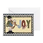 Joyeous Snowman Card Greeting Cards