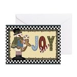 Joyeous Snowman Greeting Cards (pk Of 10)