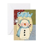 Snow Christmas Greeting Card