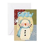 Snow Christmas Greeting Cards (Pk of 10)