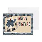 Snowman Christmas Card Greeting Cards