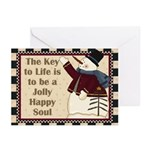 Jolly Happy Soul Greeting Cards (pk Of 20)
