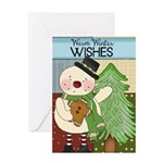 Tree Snowman Greeting Card