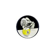 Twisted Billiard Halloween 9 Ball Mini Button