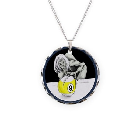Twisted 9 ball pool playing monster Necklace for men