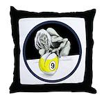 Twisted Billiard Halloween 9 Ball Throw Pillow