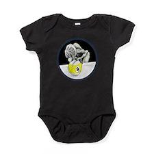 Twisted Billiard Halloween 9 Ball Baby Bodysuit