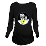 Twisted Billiard Hal Long Sleeve Maternity T-Shirt