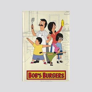Bob's Burger Hero Family Rectangle Magnet