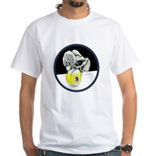 Twisted Billiard Halloween 9 Ball White T-Shirt