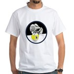 Twisted Billiard Halloween 9 Ball White T-Shirt
