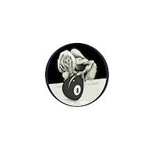 Twisted Billiard Halloween 8 Ball Mini Button