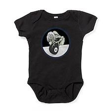 Twisted Billiard Halloween 8 Ball Baby Bodysuit