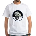 Twisted Billiard Halloween 8 Ball White T-Shirt