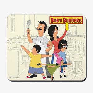 Bob's Burger Hero Family Mousepad