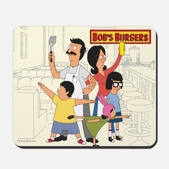 Bob's Burger Hero Family Mousepad