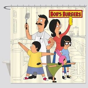 Bob's Burger Hero Family Shower Curtain