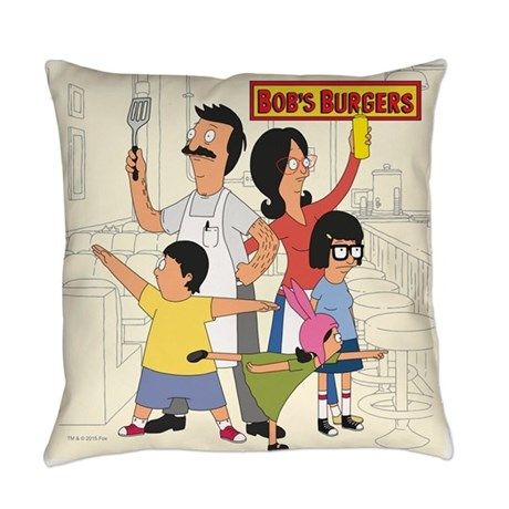 Bob's Burger Hero Family Everyday Pillow