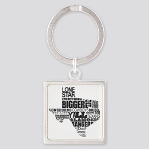 Texas Proud Square Keychain