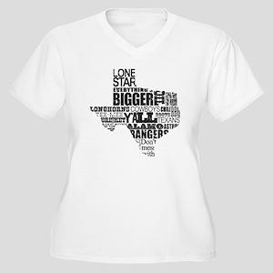 Texas Proud Women's Plus Size V-Neck T-Shirt