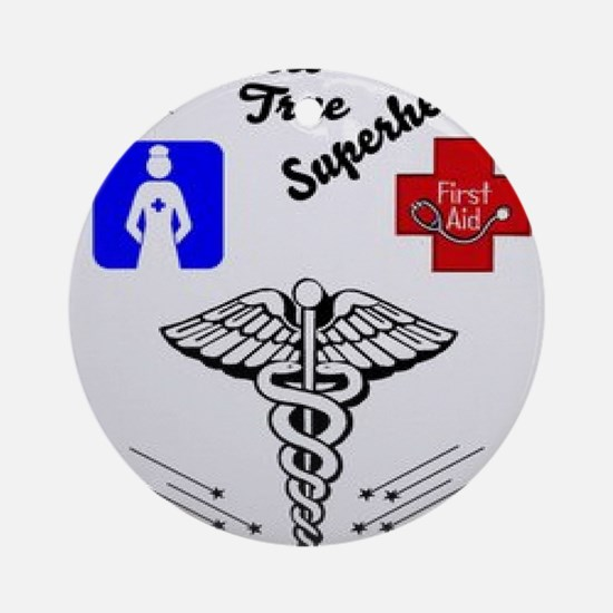 Cute Scrub nurse Round Ornament