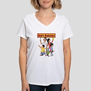 Bob's Burger Hero Family Women's V-Neck T-Shirt