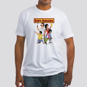 Bob's Burger Hero Family Fitted T-Shirt