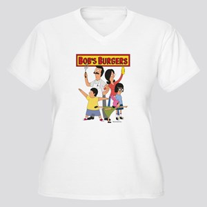 Bob's Burger Hero Women's Plus Size V-Neck T-Shirt