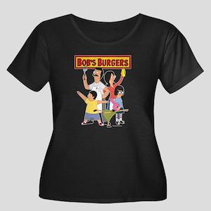 Bob's Bu Women's Plus Size Scoop Neck Dark T-Shirt